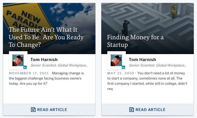 Tom's Articles American Express OpenForum