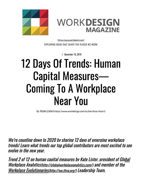 Human Capital Measures—Coming to a Workplace Near You