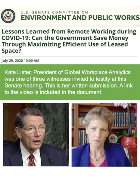 Kate Lister's U.S. Senate Testimony on Telework (July 29, 2020)