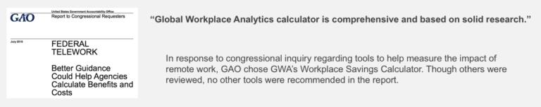 Global Workplace Analytics GAO telework report
